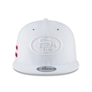 online store bfeea d57ae Men s San Francisco 49ers New Era White 2018 NFL Sideline Color Rush  Official 9FIFTY Snapback Adjustable Hat