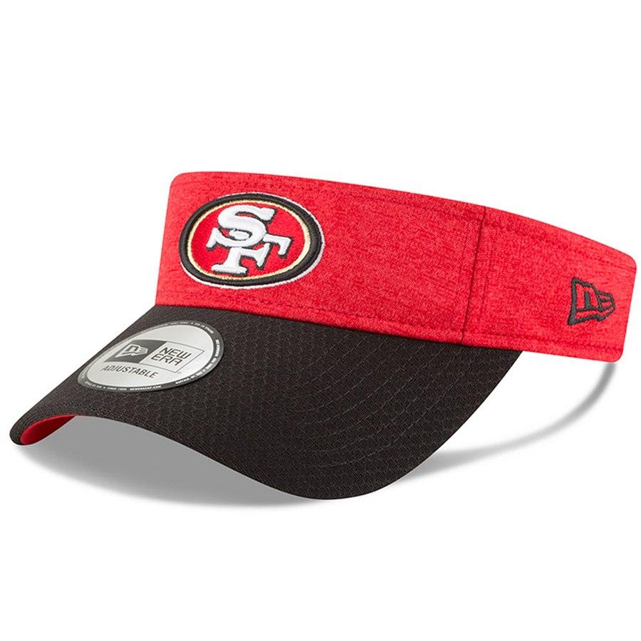 d4945237 Men's New Era Black/Scarlet San Francisco 49ers 2018 NFL Sideline Home  Official Visor